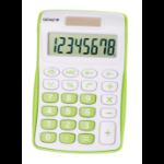 Genie 120 G calculator Pocket Display Green, White