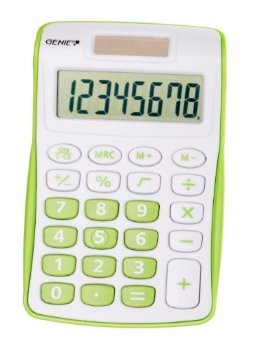 Genie 120 G calculator Pocket Display Green, White
