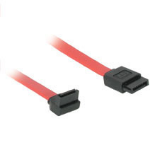 "C2G 7-pin 180° to 90° Serial ATA Device Cable 18"" SATA cable Red"