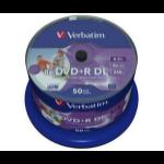 Verbatim DVD+R Double Layer Wide Inkjet Printable 8x