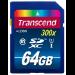 Transcend 64GB SDXC Class10 UHS I, 300X 64GB SDXC UHS Class 10 memory card