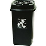 VFM DISPOSABLE CUP BIN BLK/GRY 354185