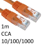 TARGET RJ45 (M) to RJ45 (M) 10/100/1000 Network 6 1m Orange OEM Moulded Boot CCA Economy Network Cable