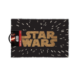 Star Wars Gold Main Logo in Space Door Mat, Black (GP85032)