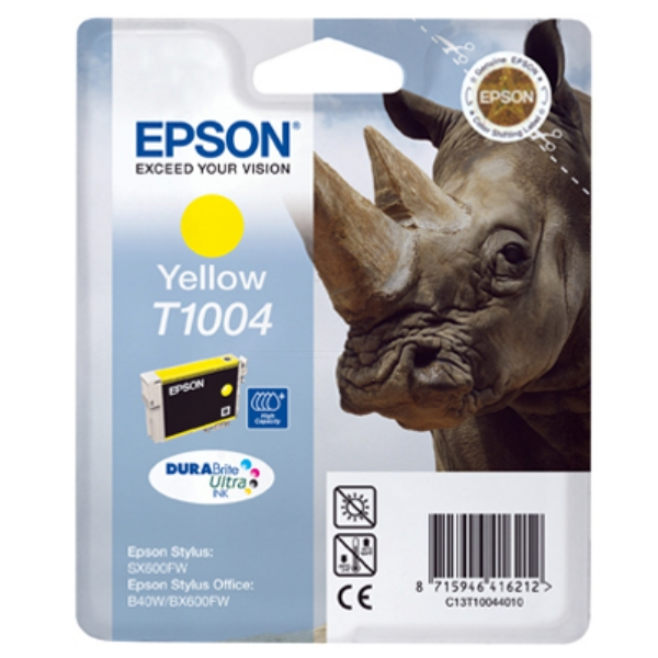 Epson C13T10044010 (T1004) Ink cartridge yellow, 990 pages, 11ml