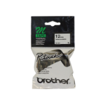 Brother 12MM BLACK ON WHITE STARTER M TAPE