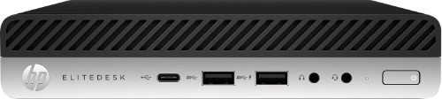 HP EliteDesk 705 G4 AMD Ryzen 5 2400GE 8 GB DDR4-SDRAM 256 GB SSD Black,Silver Mini PC