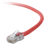 "Belkin Cat5e Patch Cable, 3ft, 1 x RJ-45, 1 x RJ-45, Red networking cable 35.4"" (0.9 m)"