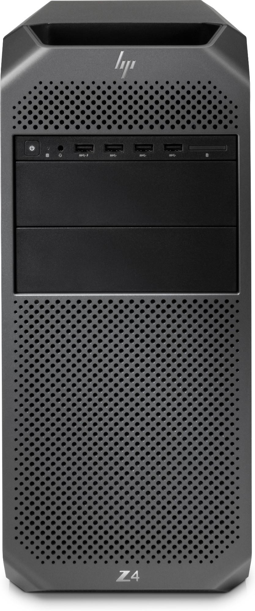 HP Z4 G4 Intel® Xeon® W-2125 16 GB DDR4-SDRAM 1256 GB HDD+SSD Mini Tower Black Workstation Windows 10 Pro