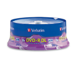 Verbatim DVD+R DL 8.5GB 8X Branded 30pk Spindle 30 pcs