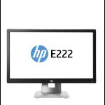 "HP EliteDisplay E222 54.6 cm (21.5"") 1920 x 1080 pixels Full HD LED Black, Silver"