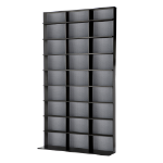 Atlantic Media Tower Elite Large Fiber Black optical disc stand