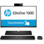 "HP EliteOne 1000 G1 60.5 cm (23.8"") 1920 x 1080 pixels Touchscreen 7th gen Intel® Core™ i7 16 GB DDR4-SDRAM 1256 GB HDD+SSD Black All-in-One PC Windows 10 Pro"