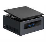 Intel NUC NUC7i3DNHE i3-7100U 2.40 GHz UCFF Black BGA 1356