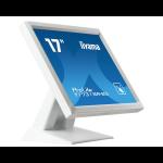 "iiyama ProLite T1731SR-W5 touch screen monitor 43.2 cm (17"") 1280 x 1024 pixels Single-touch White"