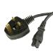 Videk 2099C-1 1m Power plug type G C5 coupler Black power cable