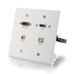 C2G RapidRun VGA Female, 3.5mm Stereo Female, HDMI Female, USB-A Female RapidRun 15-pin Male, HDMI Female, USB-A Female White