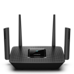 Linksys MR9000-UK wireless router Tri-band (2.4 GHz / 5 GHz / 5 GHz) Gigabit Ethernet Black