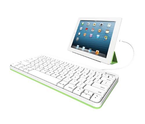Logitech 920-008147 mobile device keyboard White Lightning