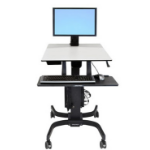 Ergotron WorkFit-C, Single LD Sit-Stand Workstation Carro multimedia Negro, Gris