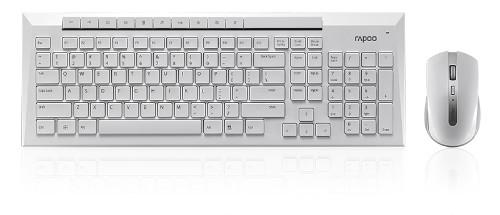Rapoo 8200P RF Wireless QWERTY English White