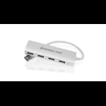 iogear GUH304 interface hub USB 3.0 (3.1 Gen 1) Type-A 5000 Mbit/s Aluminium