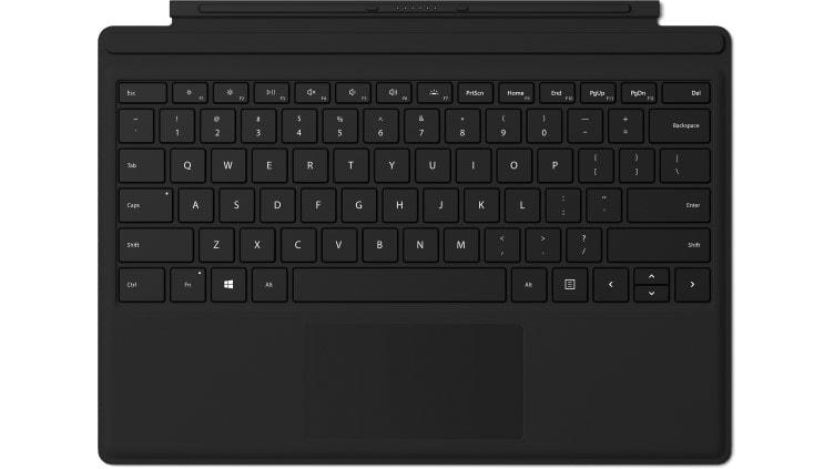 Microsoft Surface Pro Signature Type Cover FPR Microsoft Cover port Engels Zwart toetsenbord voor mobiel apparaat