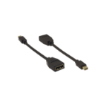 Kramer Electronics ADC-MDP/DPF video cable adapter DisplayPort Mini DisplayPort Black