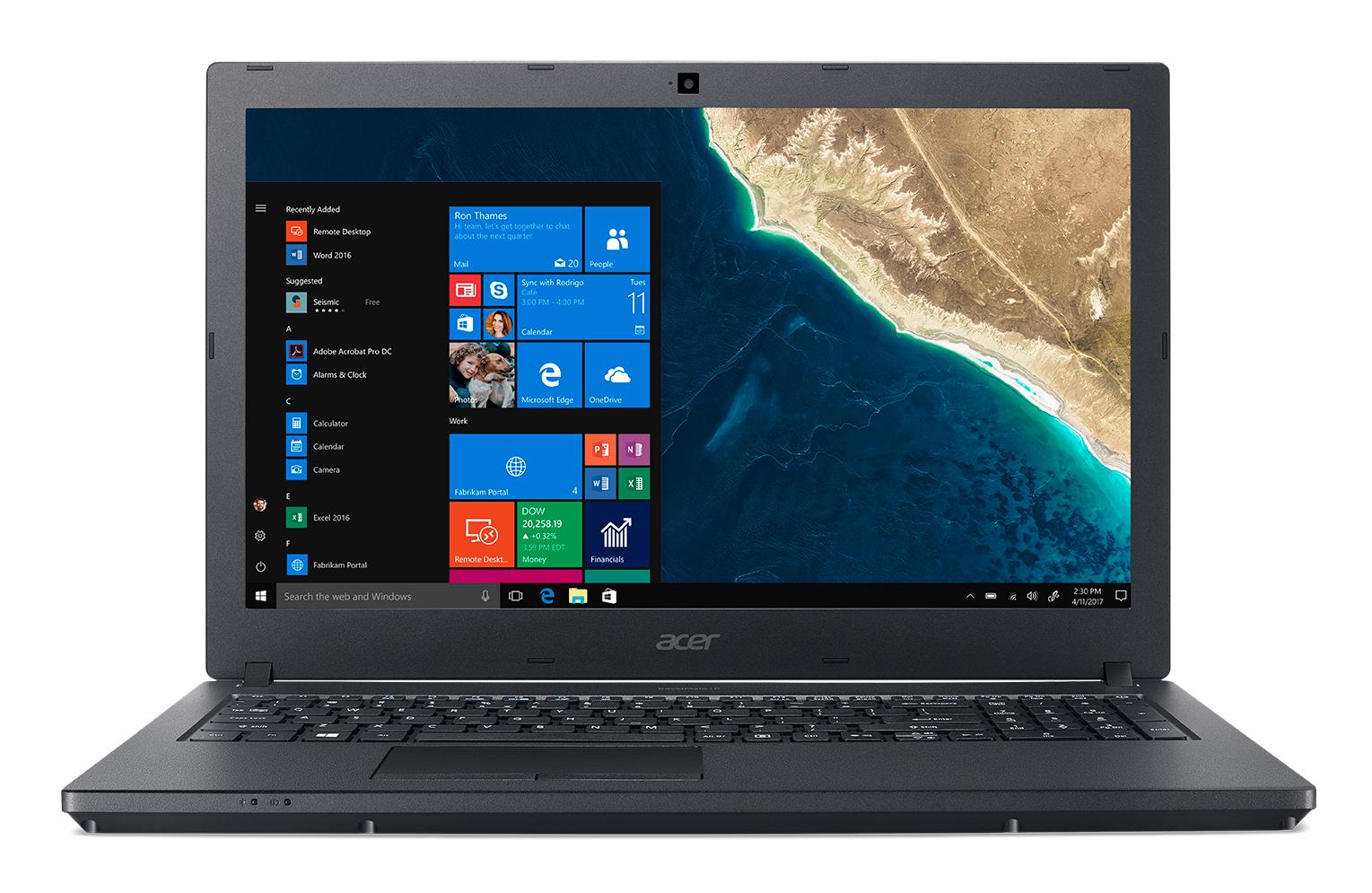 "Acer TravelMate P2 TMP2510-G2-M-86SA Zwart Notebook 39,6 cm (15.6"") 1920 x 1080 Pixels Intel® 8ste generatie Core™ i7 i7-8550U 8 GB DDR4-SDRAM 256 GB SSD"