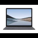 "Microsoft Surface Laptop 3 Portátil Platino 34,3 cm (13.5"") 2256 x 1504 Pixeles Pantalla táctil Intel® Core™ i5 de 10ma Generación 8 GB LPDDR4x-SDRAM 128 GB SSD Wi-Fi 6 (802.11ax) Windows 10 Pro"