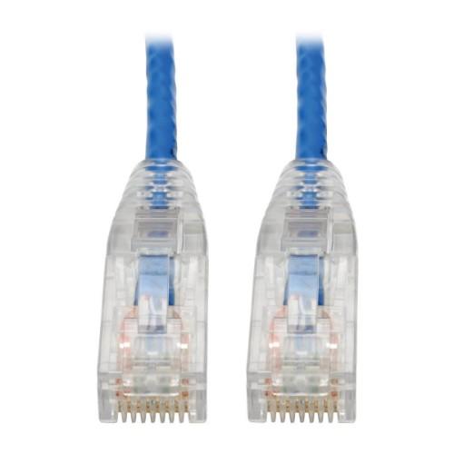 Tripp Lite Cat6 UTP Patch Cable (RJ45) - M/M, Gigabit, Snagless, Molded, Slim, Blue, 2.13 m