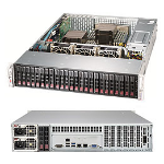 Supermicro SSG-2029P-E1CR24H server barebone LGA 3647 Rack (2U) Black