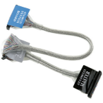 ICIDU IDE ATA 133 Roundcable, 90cm SATA cable 0.9 m Black