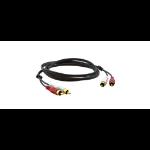 "Kramer Electronics 2xRCA, M/M, 1.8m audio cable 70.9"" (1.8 m) RCA Black"