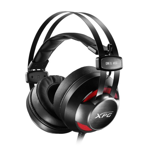 XPG EMIX H30 + SOLOX F30 Binaural Head-band Black, Red headset