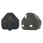 InLine US 3 Pin to UK 3 Pin Plug Adapter