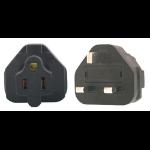 InLine US 3 Pin to UK 3 Pin Plug Adapter
