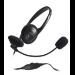 MCL CSQ-M/NZ auricular con micrófono Diadema Binaural Negro