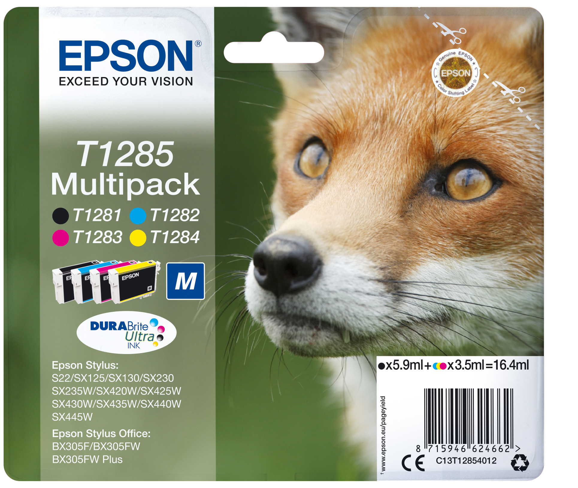 Epson Fox Multipack T1285 4 colores