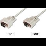 ASSMANN Electronic D-Sub M/F 3m serial cable Beige