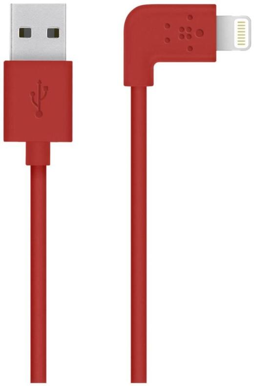 Belkin Flat Lightning 1.2 m Red