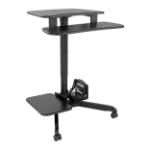 Tripp Lite Rolling Desk TV/Monitor Cart - Height Adjustable