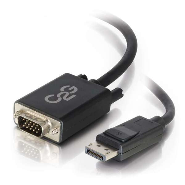 C2G 2.0m DisplayPort M / VGA M 2 m VGA (D-Sub) Negro