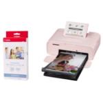 Canon SELPHY CP1300 Pink Photo Printer inc RP-36IP Ink Paper Set for 36x Photos