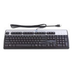 HP 435382-051 USB AZERTY French Black, Silver keyboard