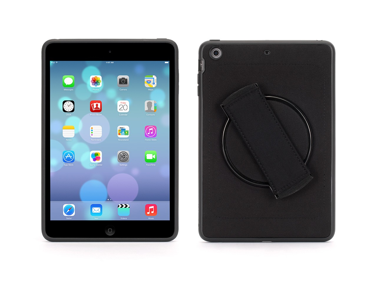 Griffin Apple iPad Mini 2/3 AirStrap with Rotating Function Cover Case - Black - (GB39054-2)