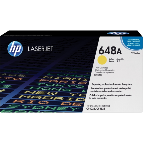 HP CE262A (648A) Toner yellow, 11K pages