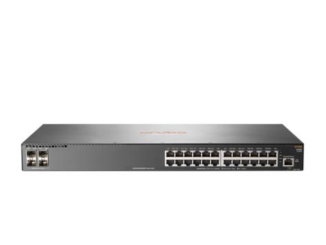 Hewlett Packard Enterprise Aruba 2930F 24G 4SFP+ Managed L3 Gigabit Ethernet (10/100/1000) 1U Grey