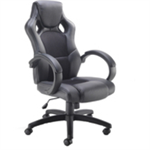 Arista Bolt Leather Racing Chair Black