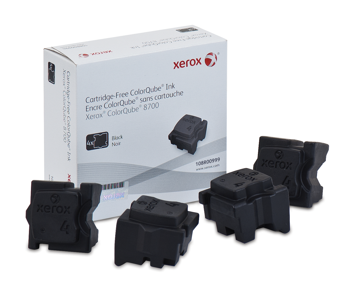 Xerox 108R00999 Dry ink in color-stix, 9K pages, Pack qty 4